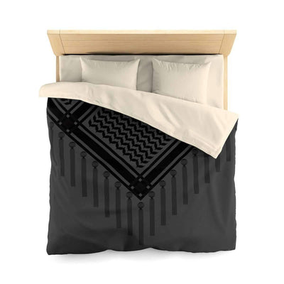 Bedding Queen / Cream Bedouin Scarf Black Duvet Cover
