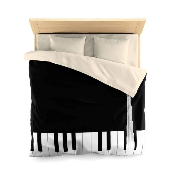 Bedding Queen / Cream Music of Burj Khalifa Duvet Cover