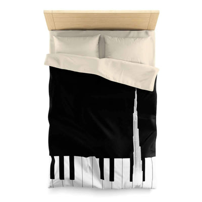 Bedding Twin / Cream Music of Burj Khalifa Duvet Cover