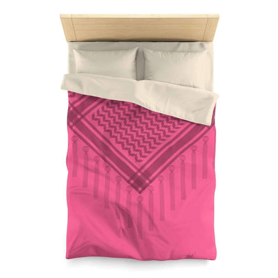 Bedding Twin / Cream Pink Scarf Duvet Cover with Hatta Bedouin Print