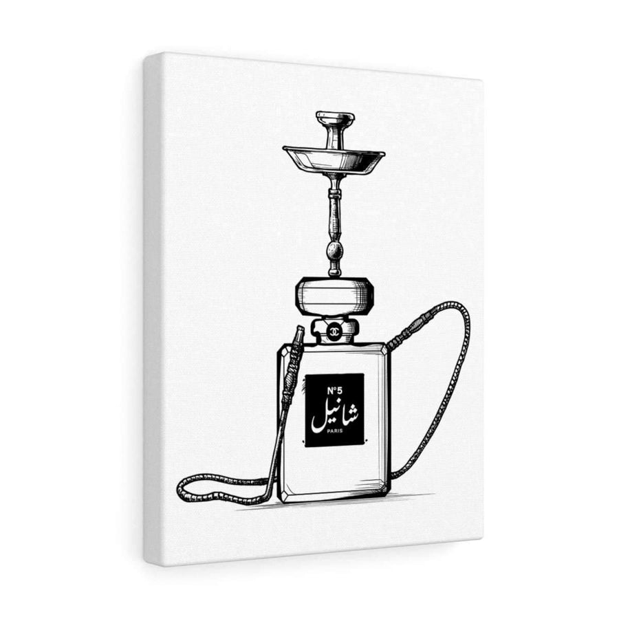 Canvas 12″ × 16″ / Premium Gallery Wraps (1.25″) Chanel Hookah Canvas Print