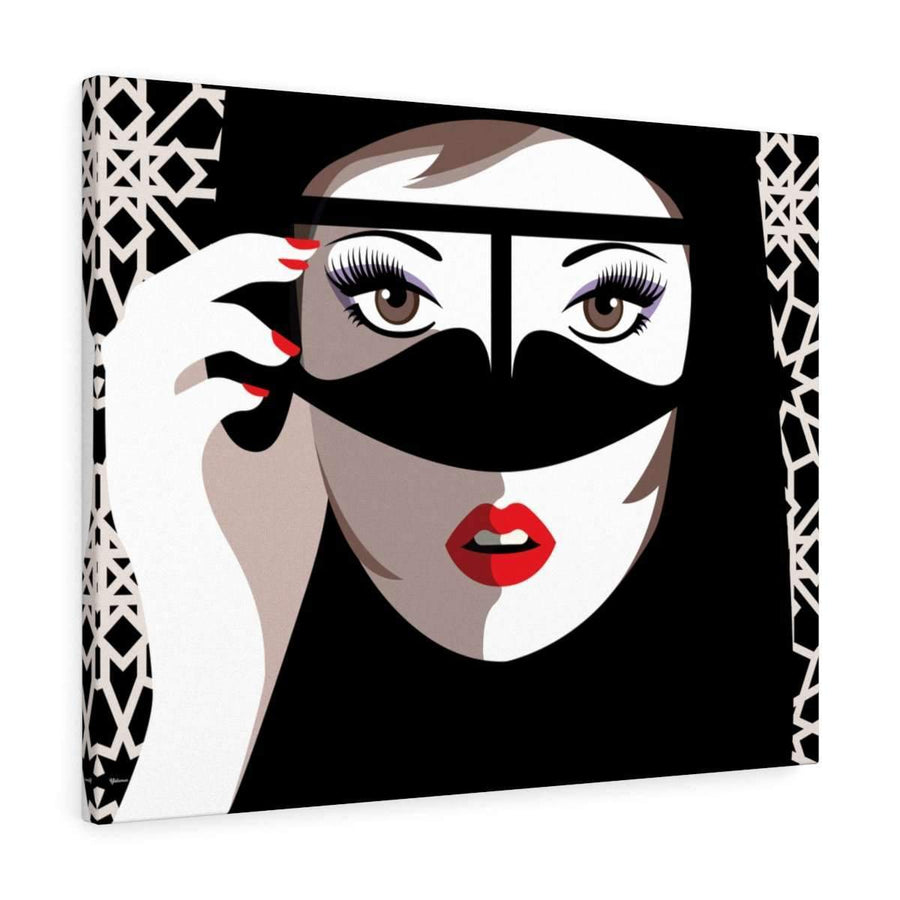 Canvas 16″ × 12″ / Premium Gallery Wraps (1.25″) Hello Gorgeous Canvas Print