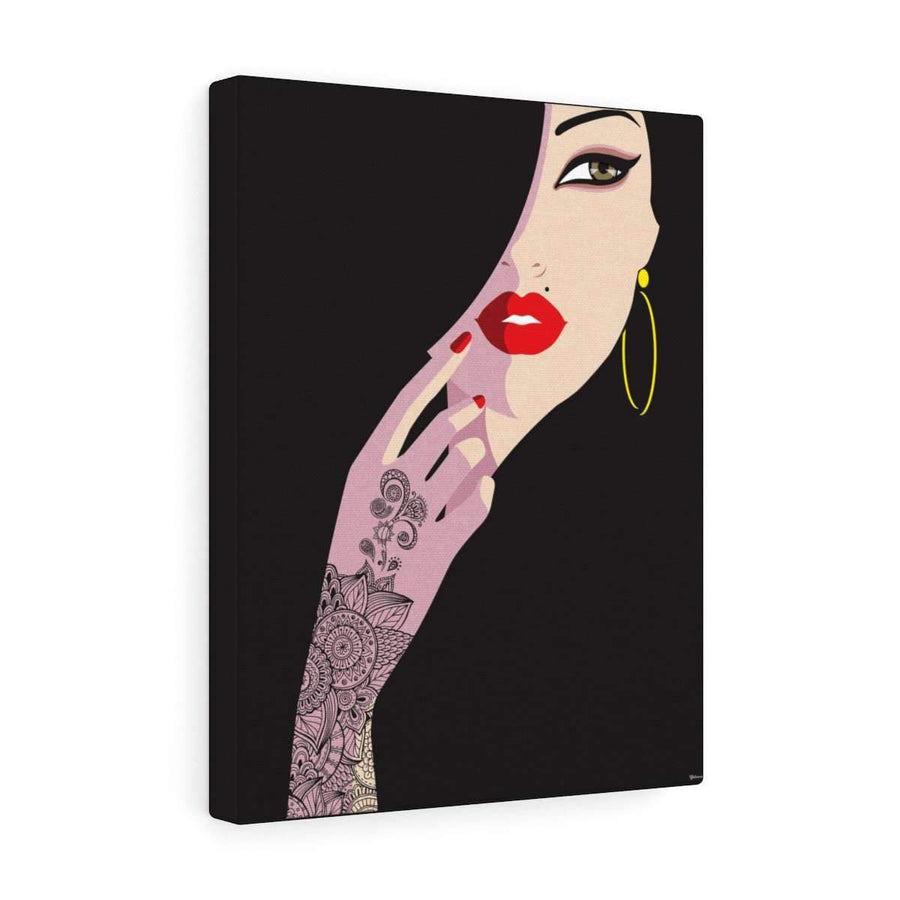 Canvas 12″ × 16″ / Premium Gallery Wraps (1.25″) Henna Lady Canvas Print