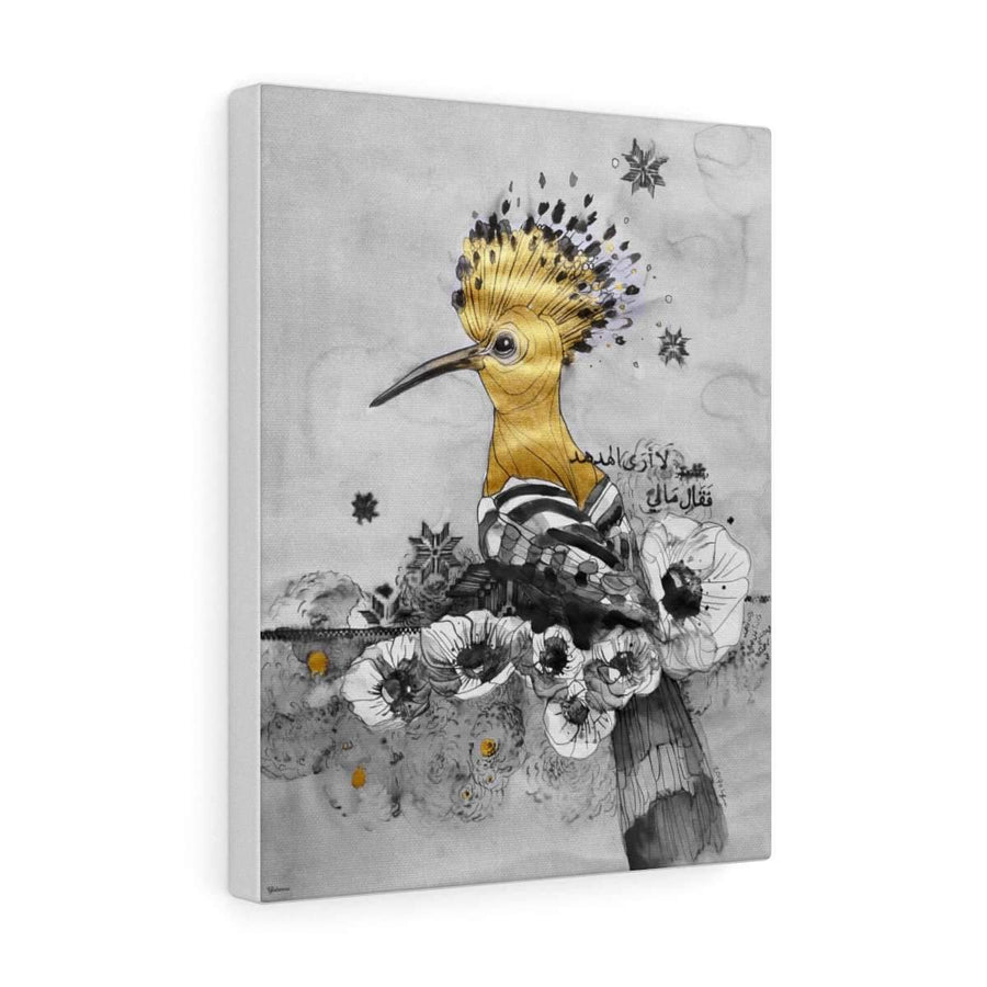 Canvas 12″ × 16″ / Premium Gallery Wraps (1.25″) Hudhud | Humming Bird Canvas Print