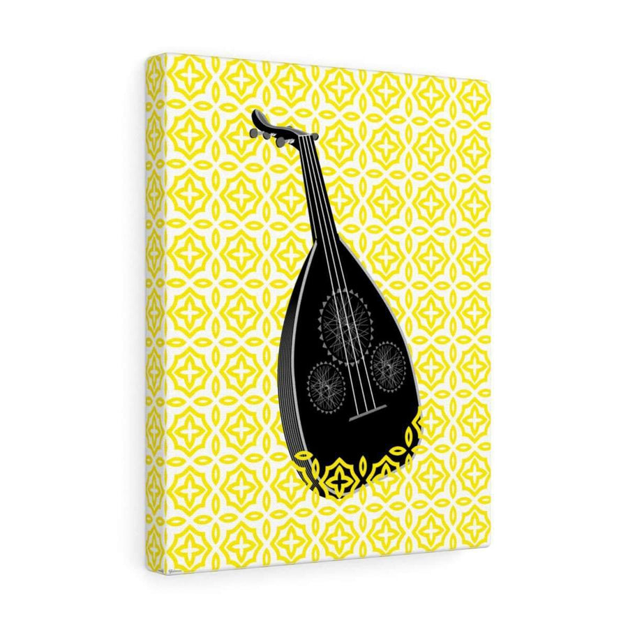 Canvas 12″ × 16″ / Premium Gallery Wraps (1.25″) Oud Canvas Print - Yellow