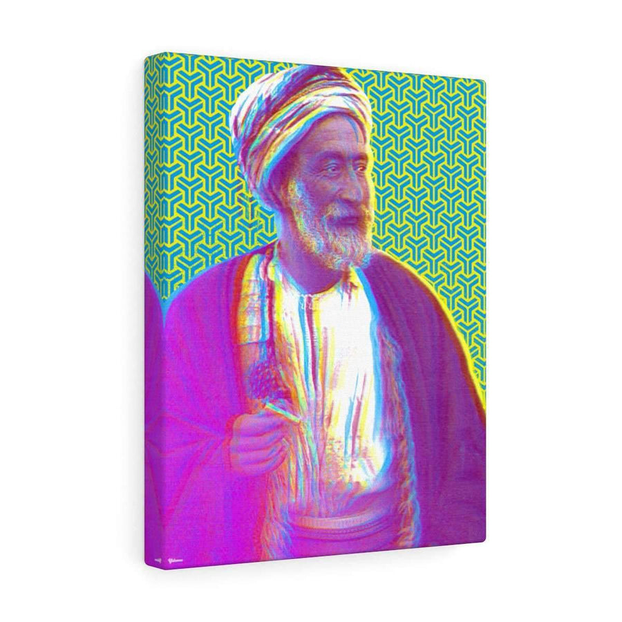 Canvas 12″ × 16″ / Premium Gallery Wraps (1.25″) The Sheikh Canvas Print - Yellow