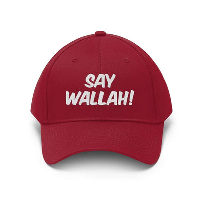 Hats True Red / One size Say Wallah! Unisex Twill Hat