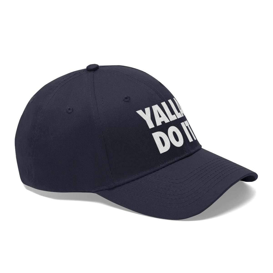 Hats True Navy / One size Yalla Do it Unisex Twill Hat