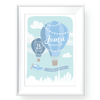 Kids & Baby Print Dubai Hot Air Balloon Personalized Art Print
