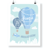 Kids & Baby Print Blue / 8.5 in — 11 in CG Matt Dubai Hot Air Balloon Personalized Art Print