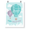 Kids & Baby Print Green / 8.5 in — 11 in CG Matt Dubai Hot Air Balloon Personalized Art Print