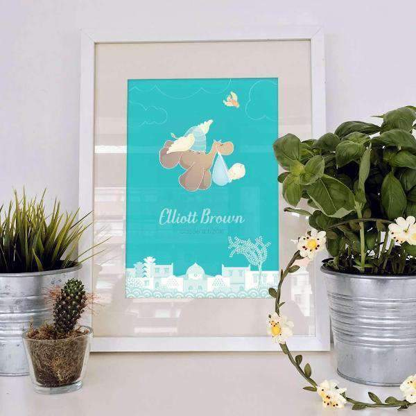 Kids & Baby Print Flying Camel Personalized Art Print