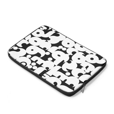 Laptop Sleeve Arabic Alphabet Black & White Laptop Sleeve