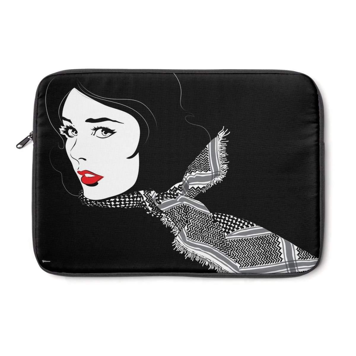 "Laptop Sleeve 13"" Black Shemagh Laptop Sleeve"