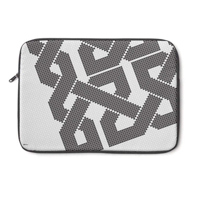 "Laptop Sleeve 13"" Black & White Grid Laptop Sleeve"