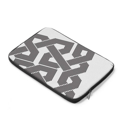 Laptop Sleeve Black & White Grid Laptop Sleeve