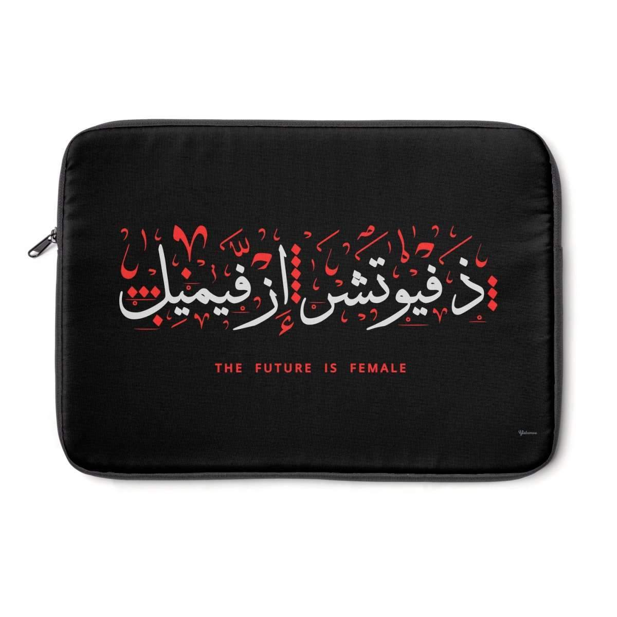 "Laptop Sleeve 13"" The Future is Female Black Laptop Sleeve"