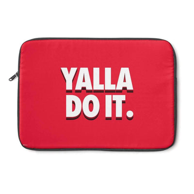 "Laptop Sleeve 13"" Yalla Do It in Red Laptop Sleeve"