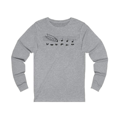 Long-sleeve Athletic Heather / S Do Re Me - Long Sleeve Tee