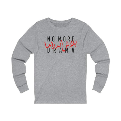 Long-sleeve Athletic Heather / L No More Drama - Long Sleeve Tee