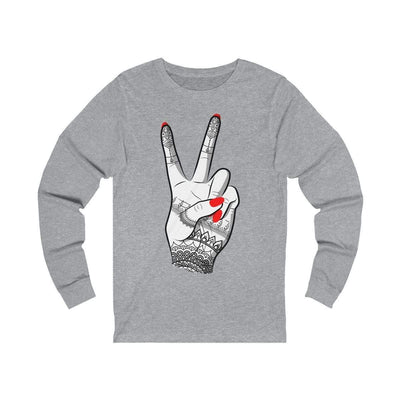 Long-sleeve Athletic Heather / L Viva - Long Sleeve Tee