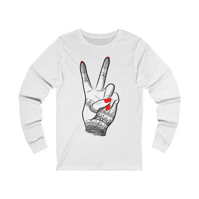Long-sleeve White / S Viva - Long Sleeve Tee