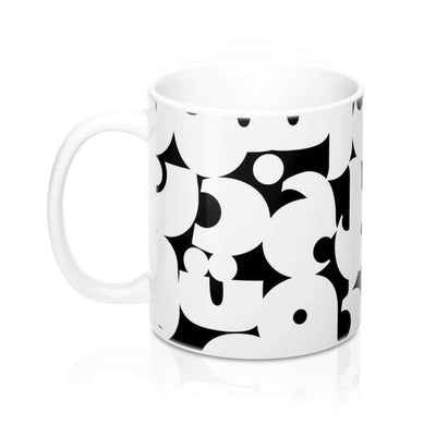Mug 11oz Arabic Alphabet Black & White Mug