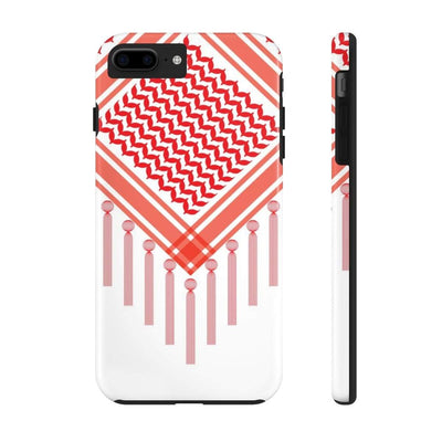 Phone Case iPhone 7 Plus, iPhone 8 Plus Tough Bedouin Scarf - Red Case Mate Tough Phone Cases