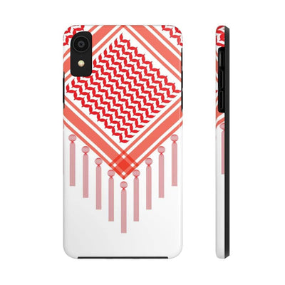 Phone Case iPhone XR Bedouin Scarf - Red Case Mate Tough Phone Cases