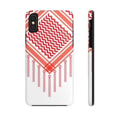 Phone Case iPhone XS Bedouin Scarf - Red Case Mate Tough Phone Cases