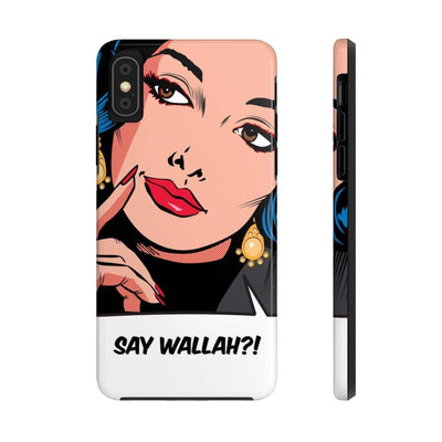 Phone Case iPhone XS Say Wallah Case Mate Tough Phone Cases