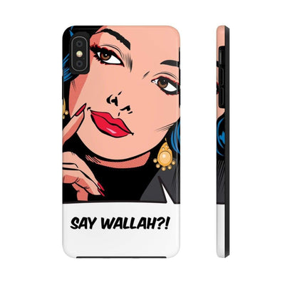 Phone Case iPhone XS MAX Say Wallah Case Mate Tough Phone Cases