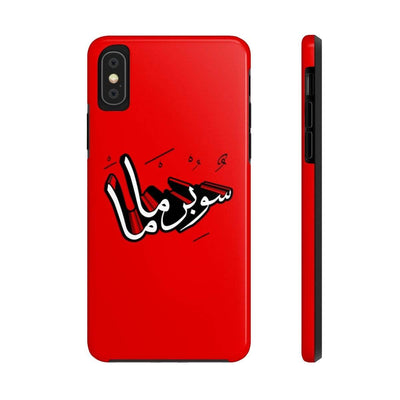 Phone Case iPhone XS Supermama - Red Case Mate Tough Phone Cases