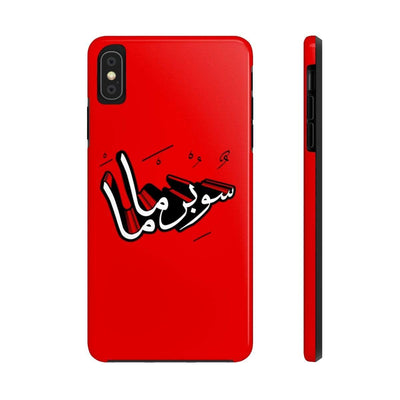 Phone Case iPhone XS MAX Supermama - Red Case Mate Tough Phone Cases