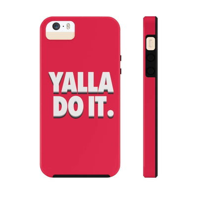 Phone Case iPhone 5/5s/5se Tough Yalla Do it - Red Case Mate Tough Phone Cases