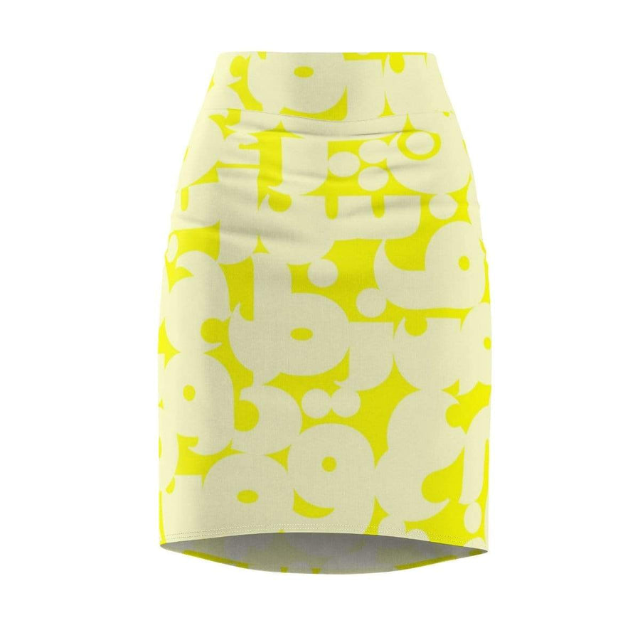 Skirts L / 4 oz. Arabic Alphabet Women's Pencil Skirt - Yellow