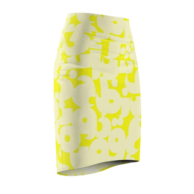 Skirts Arabic Alphabet Women's Pencil Skirt - Yellow