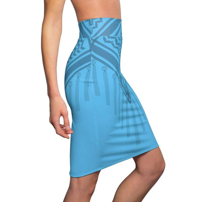 Skirts Bedouin Scarf Women's Pencil Skirt - Blue