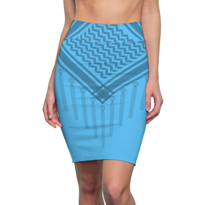 Skirts L / 4 oz. Bedouin Scarf Women's Pencil Skirt - Blue