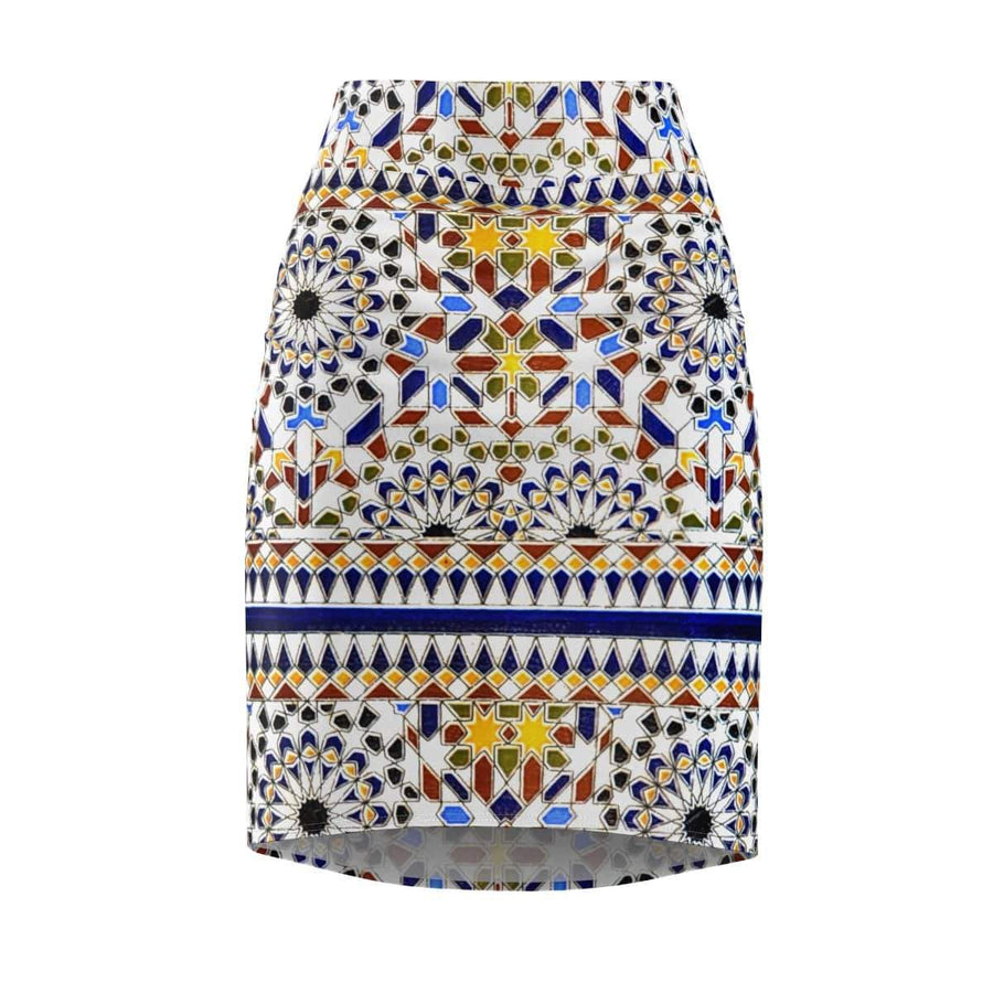 Skirts L / 4 oz. Moroccan Pattern Women's Pencil Skirt