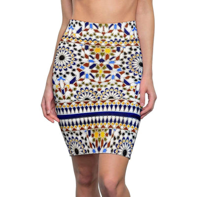 Skirts Moroccan Pattern Women's Pencil Skirt