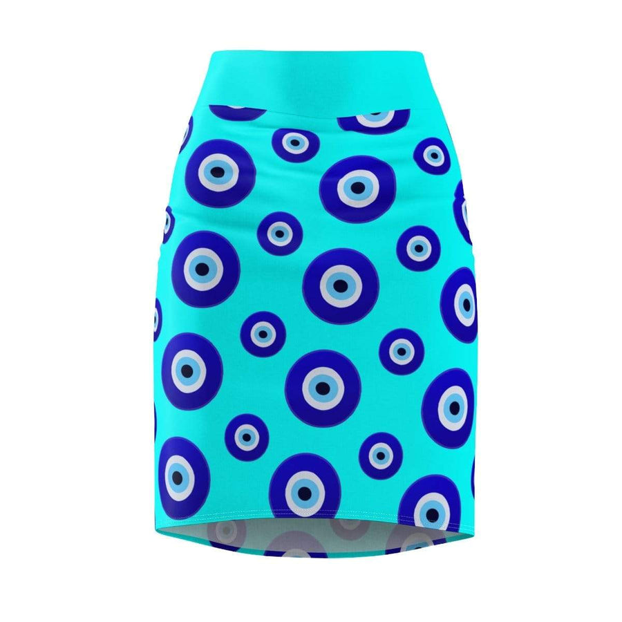 Skirts L / 4 oz. Nazar Amulet Evil Eye Women's Pencil Skirt