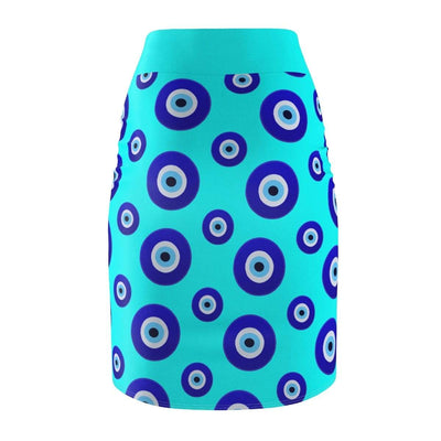 Skirts Nazar Amulet Evil Eye Women's Pencil Skirt