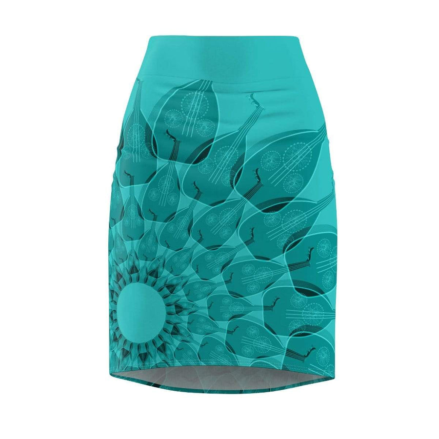 Skirts L / 4 oz. Oud Women's Pencil Skirt - Azure