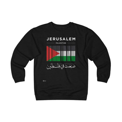 Sweatshirt Black / S Jerusalem, Made in Palestine Unisex Heavyweight Fleece Crew