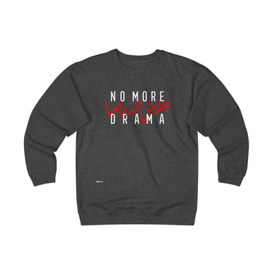 Sweatshirt Charcoal Heather / S No More Drama Unisex Heavyweight Fleece Crew