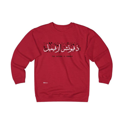 Sweatshirt Red / S The Future is Female Unisex Heavyweight Fleece Crew