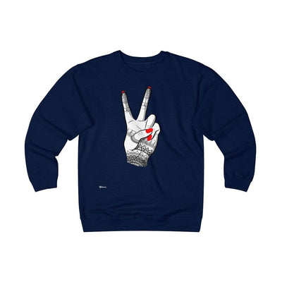 Sweatshirt Navy / S Viva Unisex Heavyweight Fleece Crew