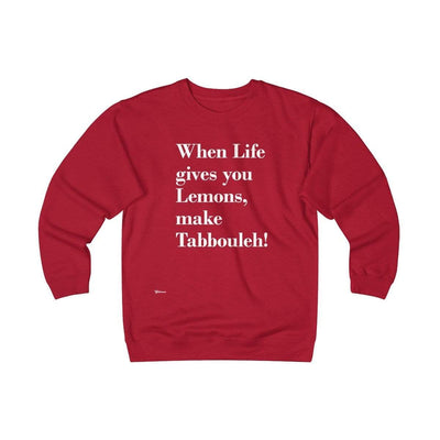 Sweatshirt Red / S When Life Gives you Lemons Unisex Heavyweight Fleece Crew