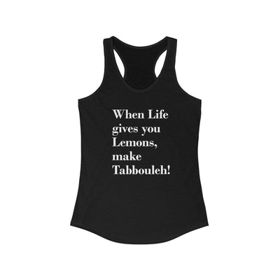 Tank Top Solid Black / XS When Life Gives you Lemons - Racerback Tank